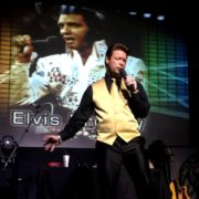 As Elvis Presley!