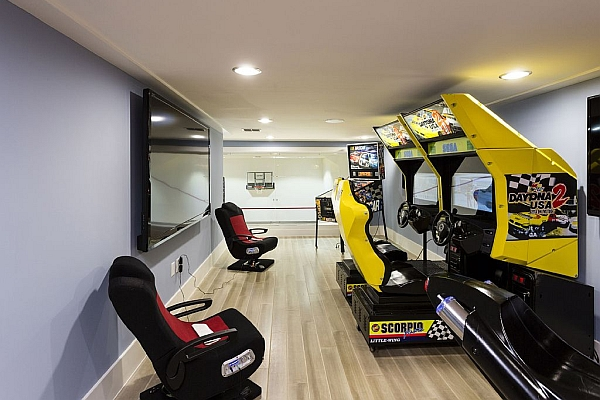 Bowling Alley Mansion Game Room